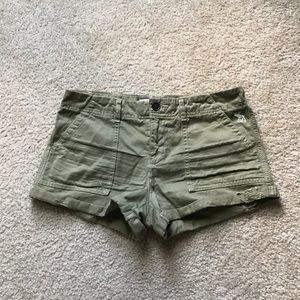 Olive green Abercrombie Shorts